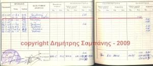 Απόσπασμα από το ΑΗΠ του κ. Γρύσπου. Έχει υπογραμμισθεί η εγγραφή της νυκτερινής πτήσης στις 17-2-1969, με το Ε/Π UH-1H 603.